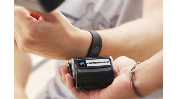 pulsera VIsa contactless de CaixaBank