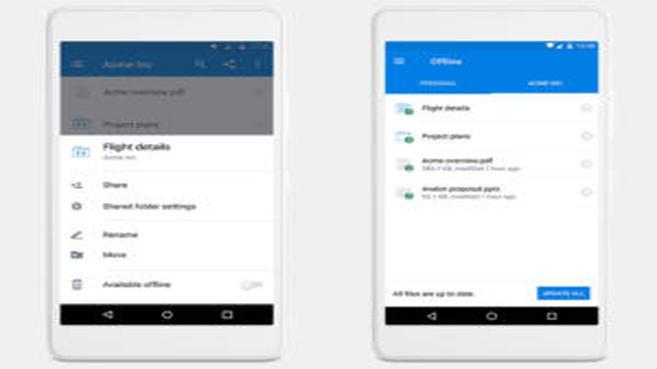 Dropbox mejora la productividad de los usuarios móviles mediante el acceso a carpetas sin conexión