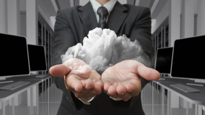 business man cloud